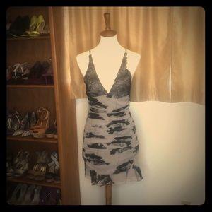 Silk Elizabeth and James Ruffled Slip Dress